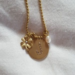 Jewelry - Initial Charm Necklace